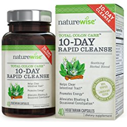 NatureWise 10-Day Rapid Cleanse for Colon Health, Detox