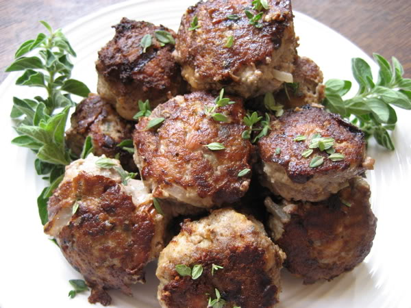 Italian Sausage Meatballs with Fresh Herbs